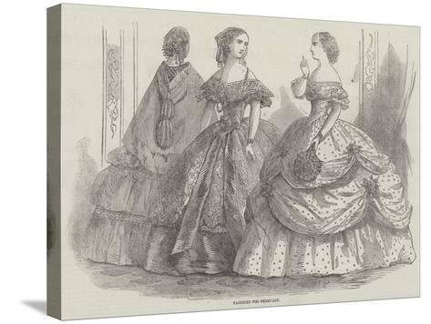 Fashions for February--Stretched Canvas Print