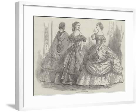 Fashions for February--Framed Art Print