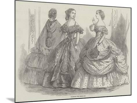 Fashions for February--Mounted Giclee Print