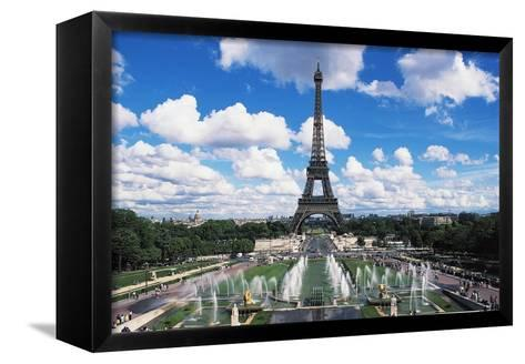 Eiffel Tower and Fountains Oftrocadero, Paris, Ile-De-France, France--Framed Canvas Print