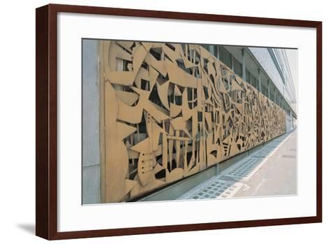 Design on the Wall of a Palace, Rai Palace, Turin, Piedmont, Italy--Framed Art Print