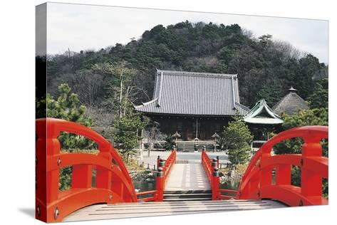 Access Bridge to Shomyoji Temple, Yokohama, Japan, 13th Century--Stretched Canvas Print