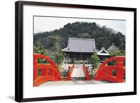 Access Bridge to Shomyoji Temple, Yokohama, Japan, 13th Century--Framed Art Print