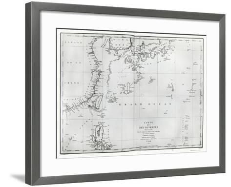 Map of the South China Sea, from the Itinerary of La Perouse, 1787--Framed Art Print