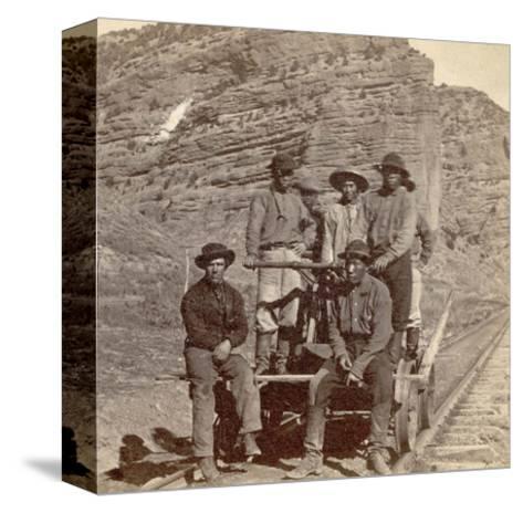 John Chinaman on the Rail Road, C.1870--Stretched Canvas Print
