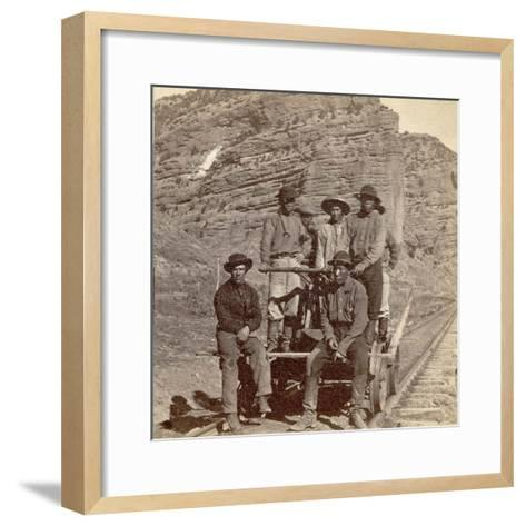 John Chinaman on the Rail Road, C.1870--Framed Art Print