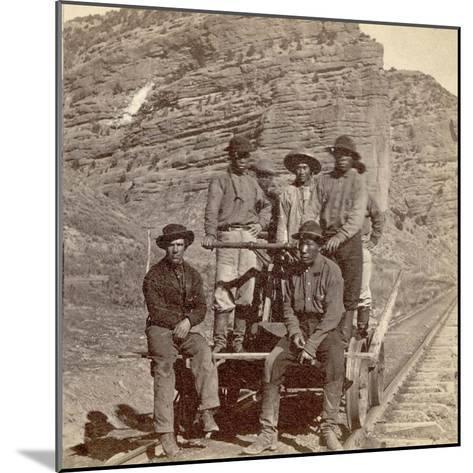 John Chinaman on the Rail Road, C.1870--Mounted Giclee Print