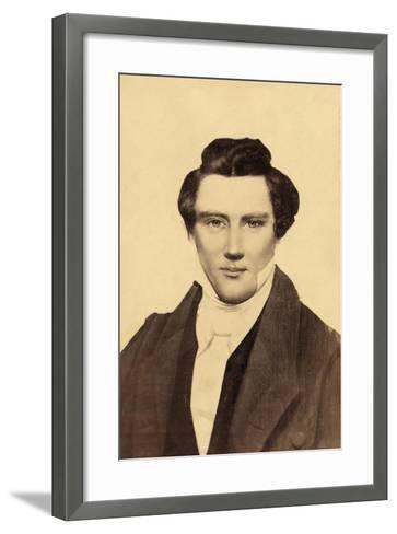 Portrait of Joseph Smith (1805-44) the Founder of Mormonism--Framed Art Print