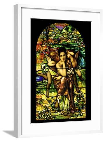 A Leaded and Plated Favrile Glass Window, C.1895--Framed Art Print
