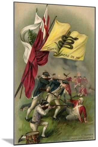 Battle of Bunker Hill with Gadsden Flag, 1899--Mounted Giclee Print