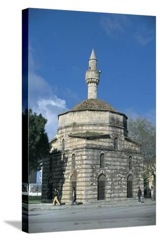Mosque Along a Road, Mimar Sinan Mosque, Vlore, Albania--Stretched Canvas Print
