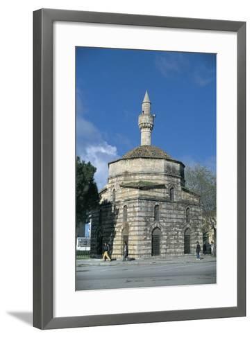 Mosque Along a Road, Mimar Sinan Mosque, Vlore, Albania--Framed Art Print