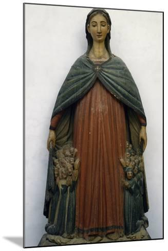 Virgin of Mercy, Polychrome Wood Statue, Italy, 15th Century--Mounted Giclee Print