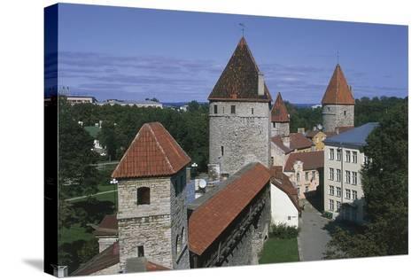 High Angle View of Buildings, Vanalinn, Tallinn, Estonia--Stretched Canvas Print