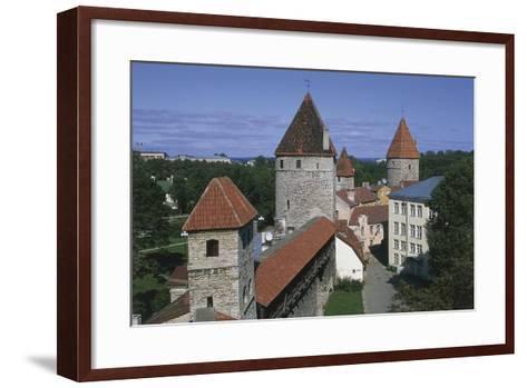 High Angle View of Buildings, Vanalinn, Tallinn, Estonia--Framed Art Print