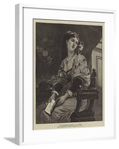 The Interrupted Reading--Framed Art Print