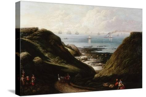 Coast Scene--Stretched Canvas Print