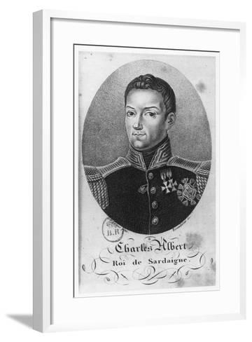 Charles Albert, King of Sardinia--Framed Art Print