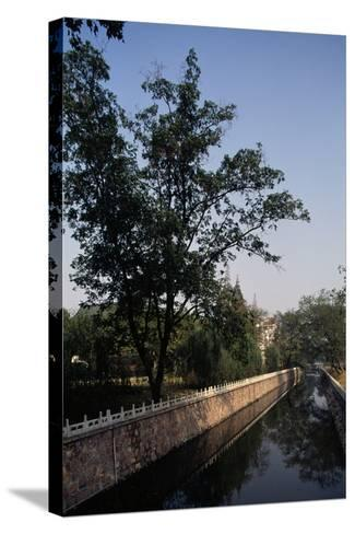 Canal Flanked by Trees, Ming Palace, Nanjing, Jiangsu, 14th Century--Stretched Canvas Print