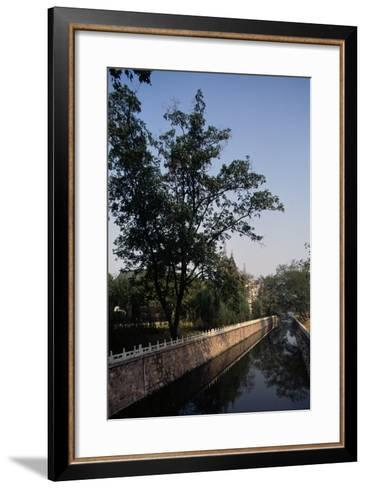 Canal Flanked by Trees, Ming Palace, Nanjing, Jiangsu, 14th Century--Framed Art Print
