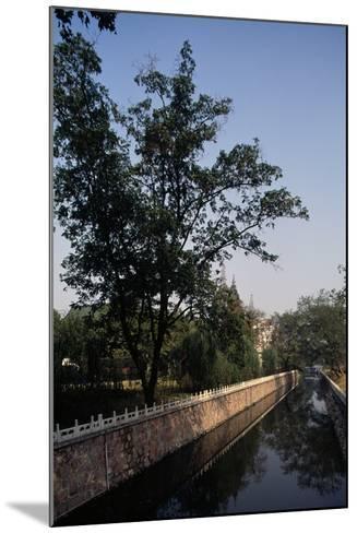 Canal Flanked by Trees, Ming Palace, Nanjing, Jiangsu, 14th Century--Mounted Giclee Print