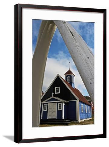 Church in Sisimiut, Qeqqata, Greenland, Overseas Territory of Denmark--Framed Art Print