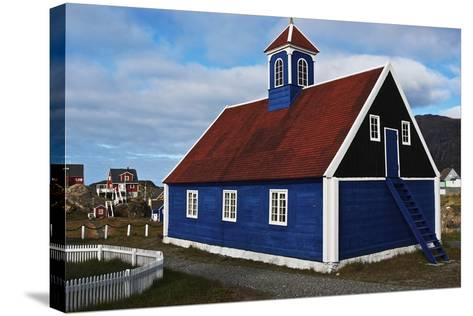 Church in Sisimiut, Qeqqata, Greenland, Overseas Territory of Denmark--Stretched Canvas Print