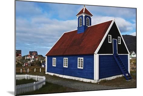 Church in Sisimiut, Qeqqata, Greenland, Overseas Territory of Denmark--Mounted Giclee Print