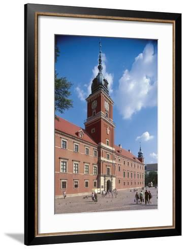 Facade of a Castle, Royal Castle, Warsaw, Mazowieckie, Poland--Framed Art Print