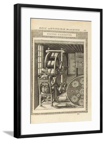 A Page from the Book 'Le Diverse Et Artificiose Machine', 1588--Framed Art Print