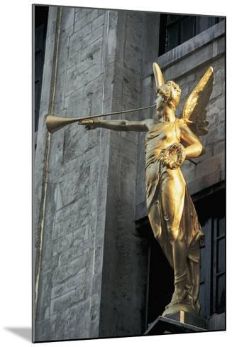 Low Angle View of a Statue, Grand Place, Brussels, Belgium--Mounted Giclee Print