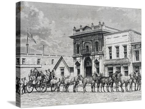 Wells Fargo and Company Stagecoach, United States, 19th Century--Stretched Canvas Print