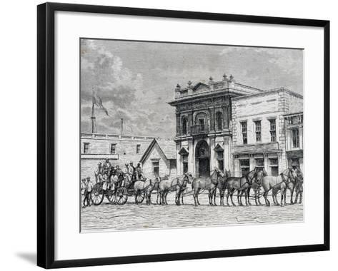 Wells Fargo and Company Stagecoach, United States, 19th Century--Framed Art Print