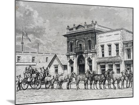 Wells Fargo and Company Stagecoach, United States, 19th Century--Mounted Giclee Print