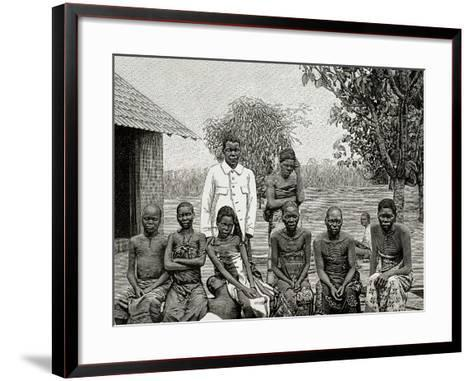 Africa. Native Affected by Sleeping Sickness, 1903--Framed Art Print