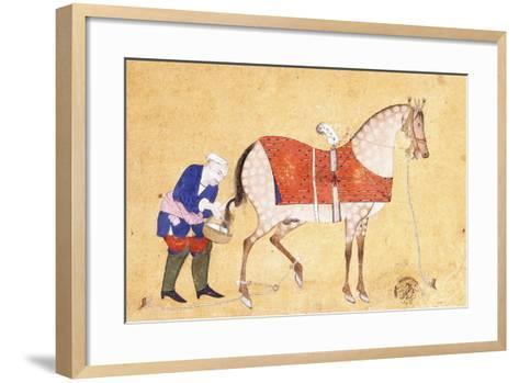 A Groom with a Horse, 1694--Framed Art Print