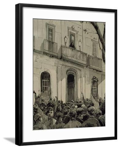 Spain, Barcelona, Working Demonstration--Framed Art Print