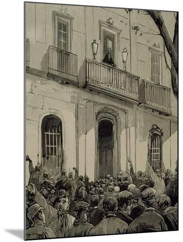 Spain, Barcelona, Working Demonstration--Mounted Giclee Print