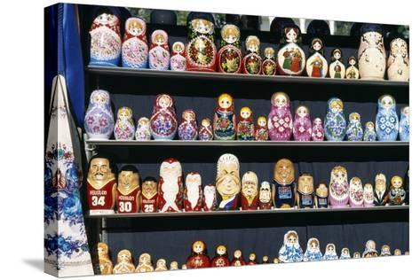 Display of Handcrafted Russian Dolls, St. Petersburg, Russia--Stretched Canvas Print