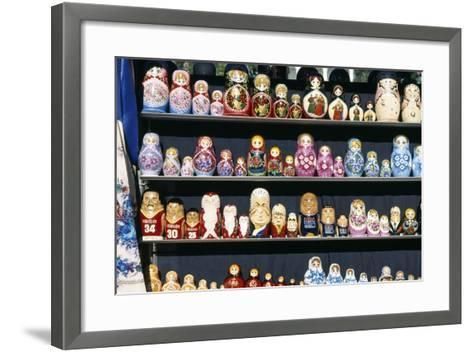 Display of Handcrafted Russian Dolls, St. Petersburg, Russia--Framed Art Print