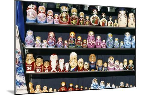 Display of Handcrafted Russian Dolls, St. Petersburg, Russia--Mounted Giclee Print