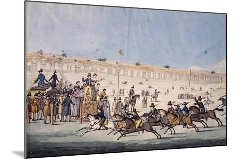 Horse Racing at Capannelle in Rome, Italy, 19th Century--Mounted Giclee Print