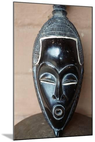 Traditional Mask from Benin--Mounted Giclee Print