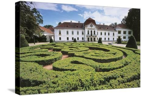 Garden Maze in Front of a Castle, Nagycenk, Hungary--Stretched Canvas Print
