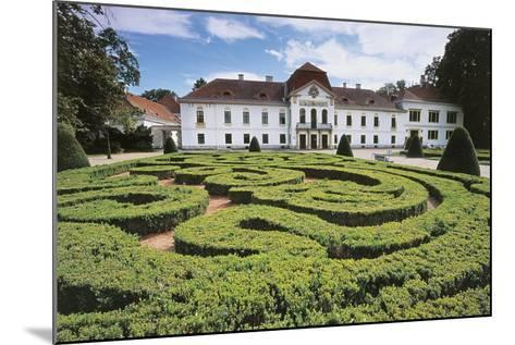 Garden Maze in Front of a Castle, Nagycenk, Hungary--Mounted Giclee Print