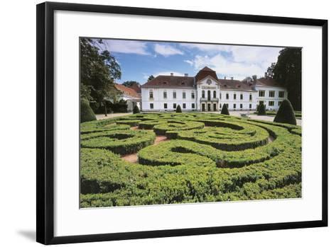 Garden Maze in Front of a Castle, Nagycenk, Hungary--Framed Art Print