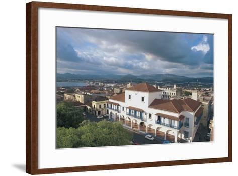 High Angle View of a Town Hall, Santiago De Cuba, Cuba--Framed Art Print