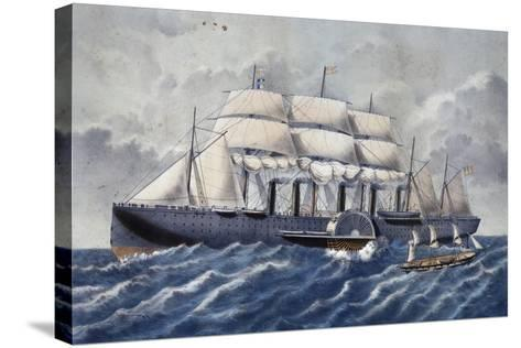 British Steamer Great Eastern, 19th Century--Stretched Canvas Print