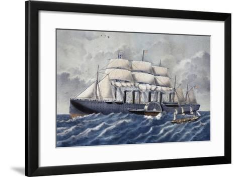 British Steamer Great Eastern, 19th Century--Framed Art Print