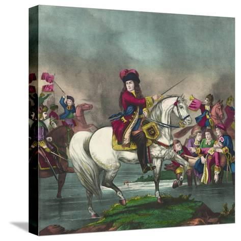 William III at the Battle of the Boyne, 1874--Stretched Canvas Print